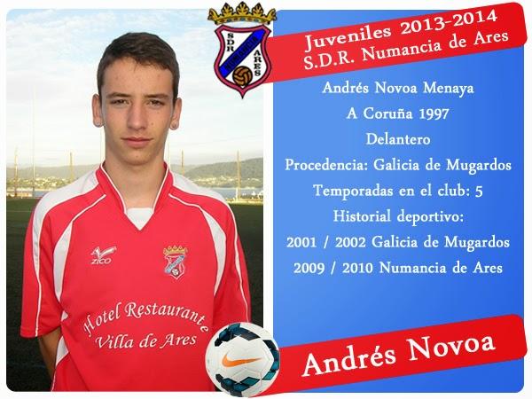 ADR Numancia de Ares. ANDRES NOVOA