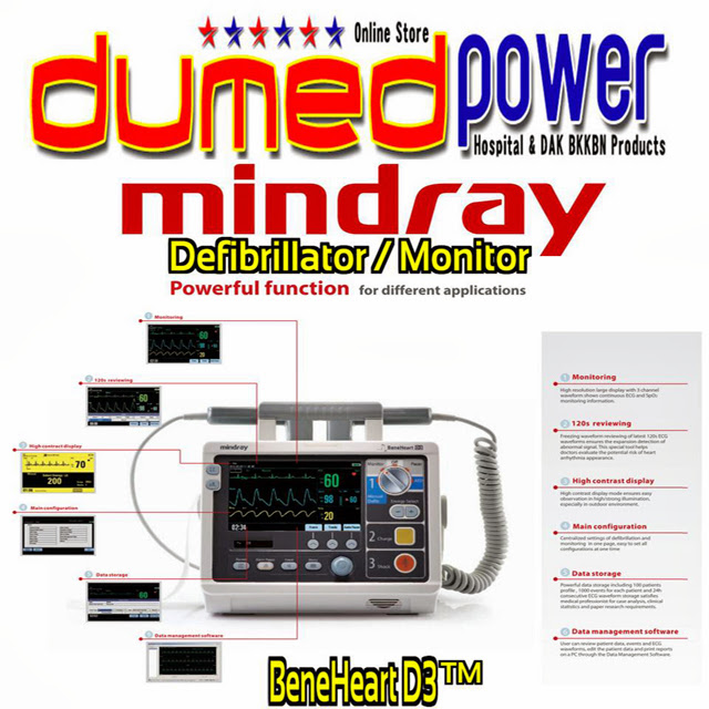 Mindray-Defibrillator-Monitor-BeneHeart-D3-D6-DC-Shock-Alat-Pacu-Jantung-Made-in-China