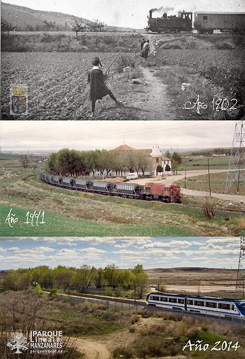 Diferentes momentos históricos del Tren de Arganda