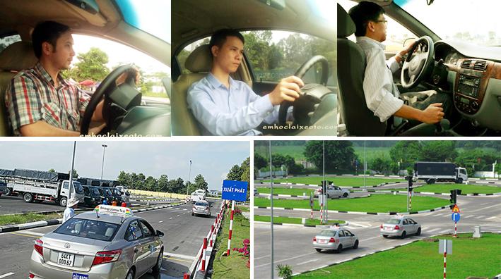 Hình ảnh sân học lái xe ô tô
