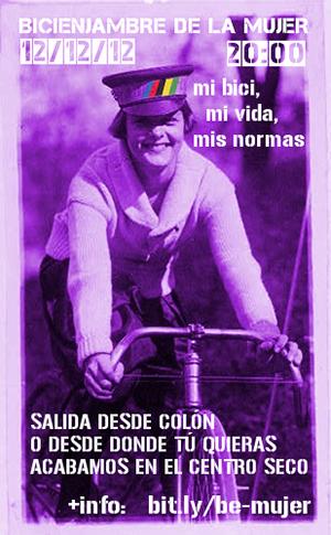 Bicienjambre de diciembre 12/12 Bicienjambre de la Mujer