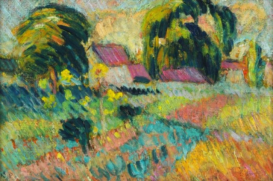 Robert Antoine Pinchon - Garden Hamlet Near Rouen