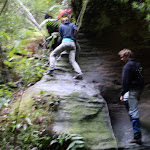Climbing up one of the small waterfalls (39391)