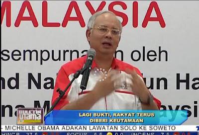 Gambar Najib Rasmi Kedai Rakyat 1Malaysia