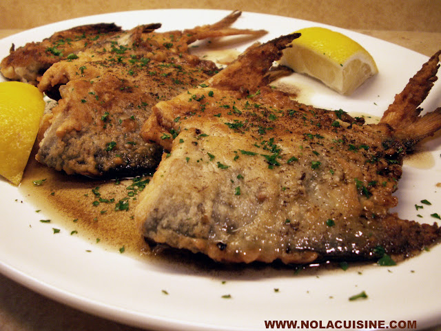 Pan fried pomfret with meuniere butter nola cuisine for Pompano fish recipe