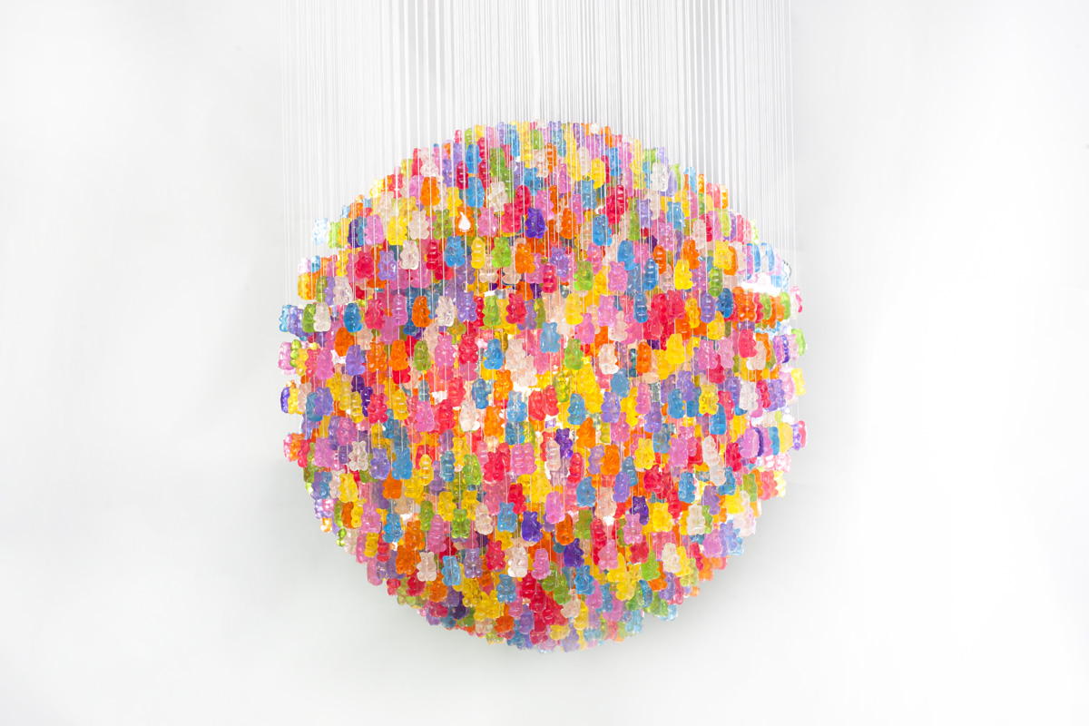 *Kevin Champeny:Gummy Bears Chandelier 小熊軟糖吊燈 1