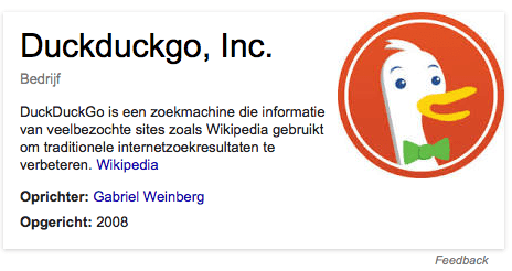 DuckDuckGo in Google