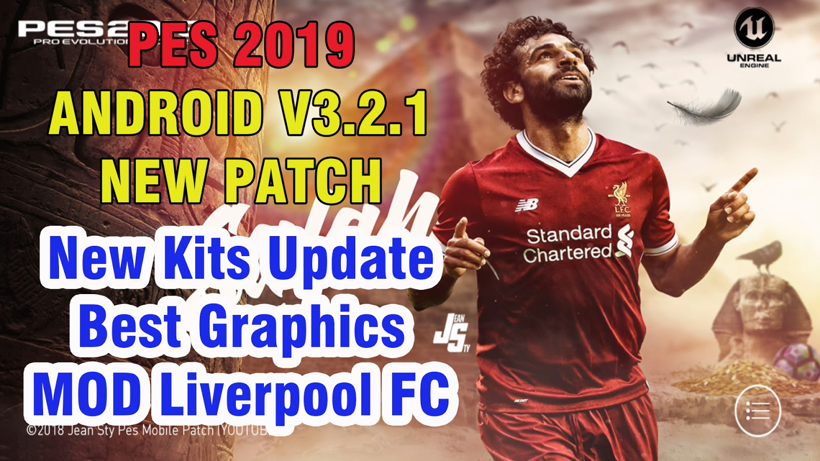 PES 2019 Mobile Patch V3.2.1 New Kits Update Android Best Graphics [MOD Liverpool FC]