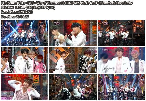 Download [Perf] BTS – War of Hormone @ KBS Music Bank 141024