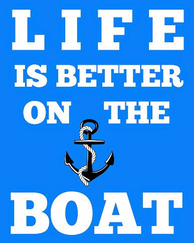 Free Printable Subway Art - Life is Better on the Boat 8x10