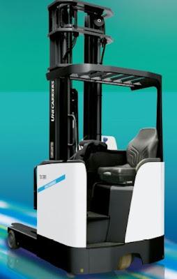 Xe nâng reach truck ngồi lái Unicarriers