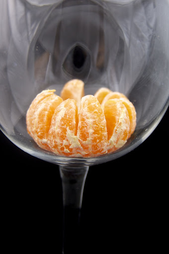satsuma in a glass