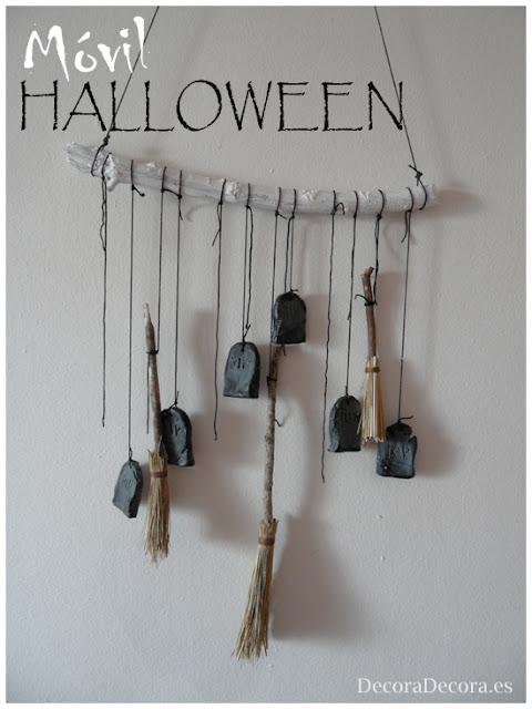 Decorar en Halloween con un móvil.