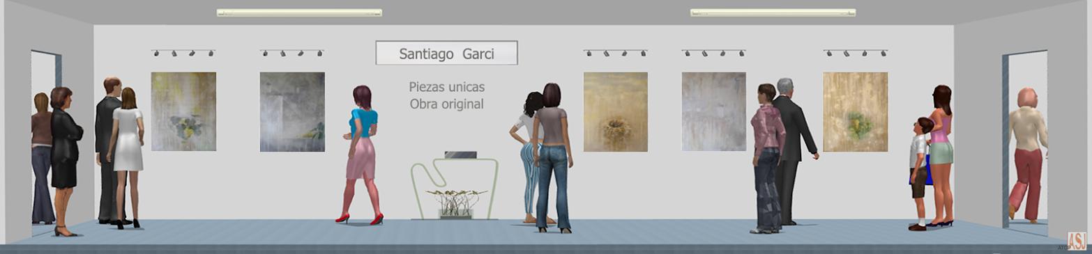 Sala de exposición virtual de Pinturas de Santiago Garci