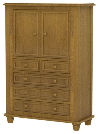 Lotus Armoire Dresser in Autumn Quarter Sawn Oak