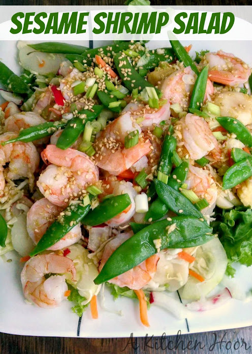 A Kitchen Hoor | Sesame #ShrimpSalad #Recipe