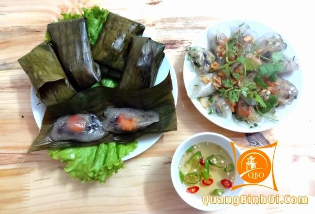 Bánh lọc trần, bánh lọc lá Quảng Bình tại Quảng Bình Ơi