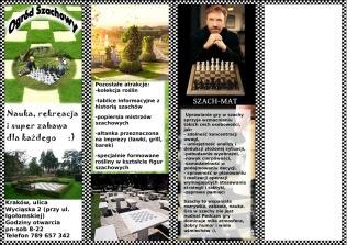 Ulotka ogrodu szachowego pierwsza strona