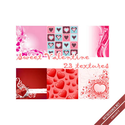 23 Sweet Valetine Textures