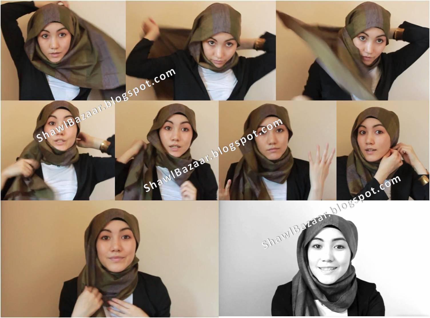 Tutorial Hijab Hana Tajima Pashmina