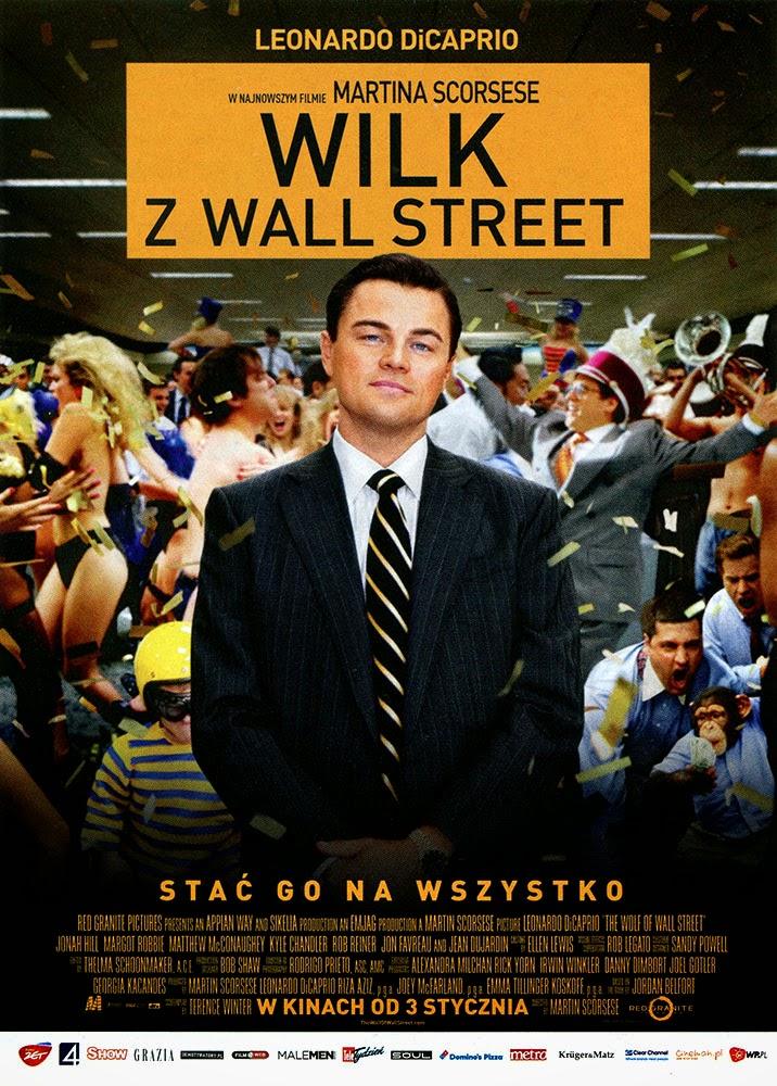 Ulotka filmu 'Wilk Z Wall Street (przód)'