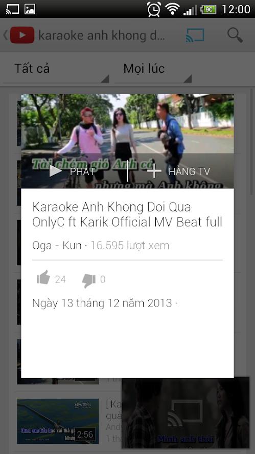 Hát Karaoke VOD HD - Điều khiển bằng smart phone - Free kho bài hát vô tận