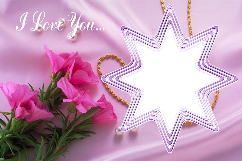 Photo Frame Png Beautiful i Love You Frame Png