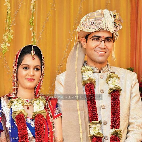 Disha and Anuj Puri during their wedding ceremony, held in Bhopal