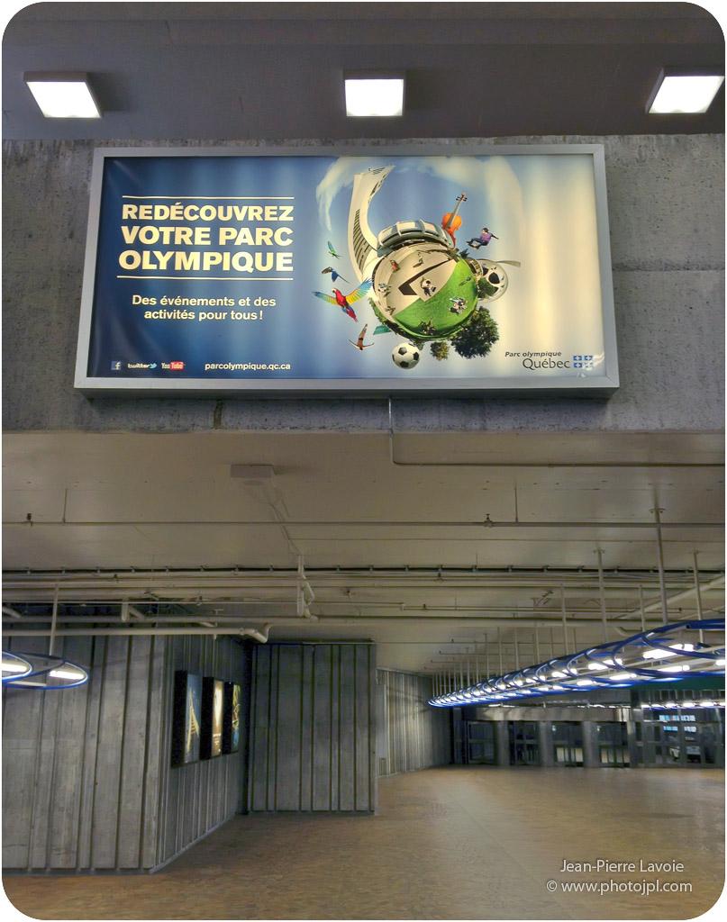 publicité parc olympique
