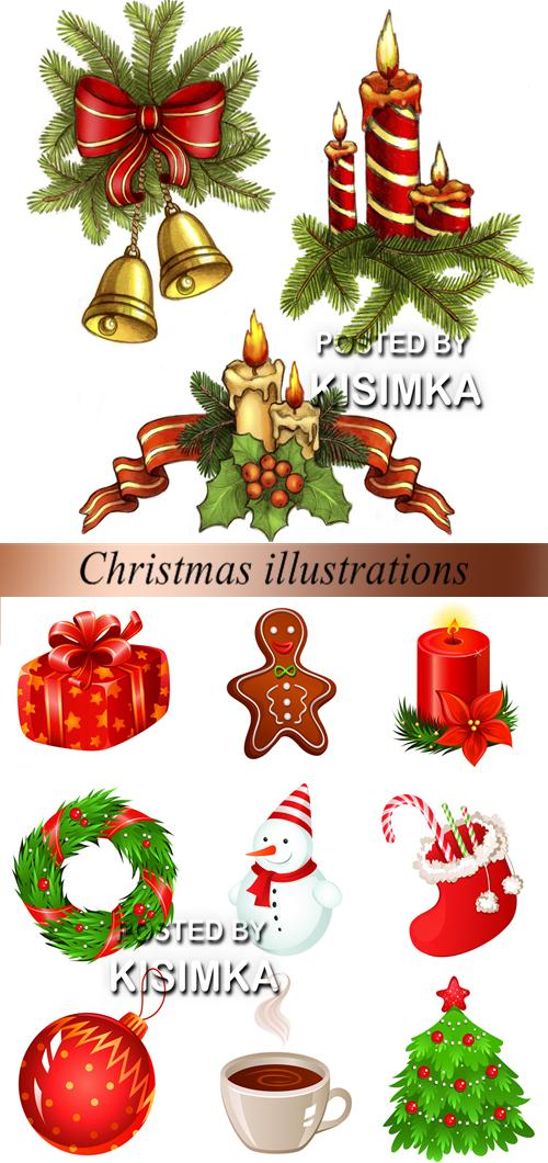 Stock Photo: Christmas illustrations