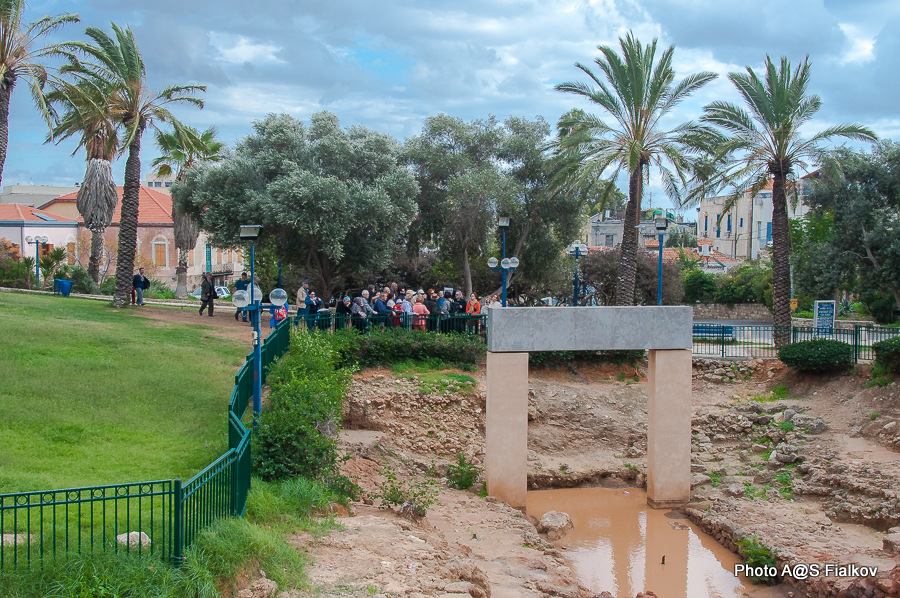 Раскопки в Яффо. Врата Рамзеса Второго. Экскурсия в Яффо. Гид в Израиле Светлана Фиалкова.
