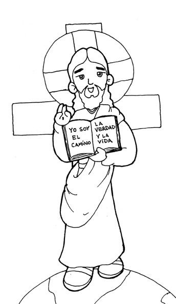 Jesús the master coloring pages