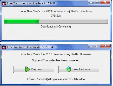 HOW's Free YouTube Downloader settings