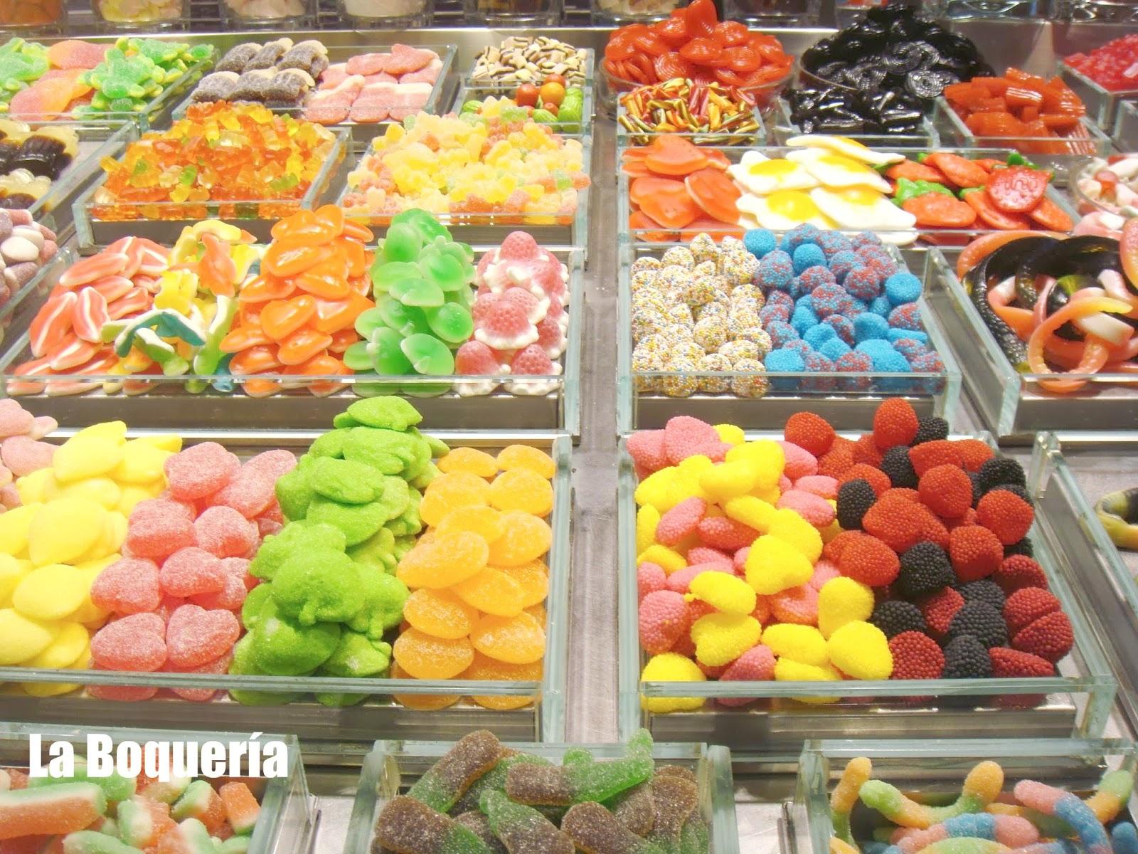 Golosinas, Mercat St Josep, Mercado de la Boquería, Barcelona, Elisa N, Blog de Viajes, Lifestyle, Travel