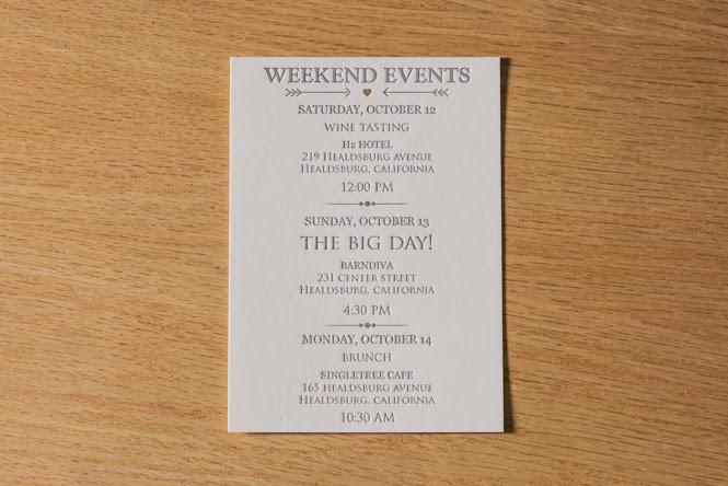 Mia + Ryan Letterpress Printed Wedding Invitations