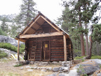 The Snow Survey Cabin. Now we know right where we are--Lake Vernon is just around the corner! ©http://backpackthesierra.com