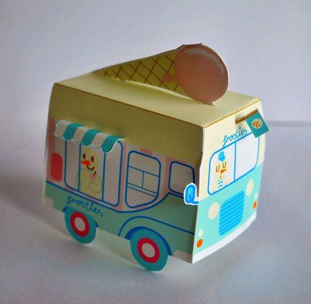 Frosties Ice Cream Truck Paper Toy