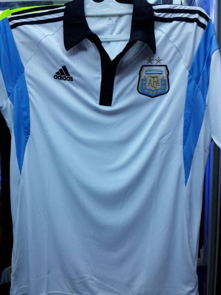 Jual Kaos Polo Argentina Biru Putih 2014