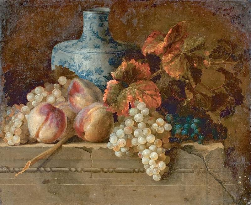 Nicolas de Largillière - Nature morte aux raisins et pêches