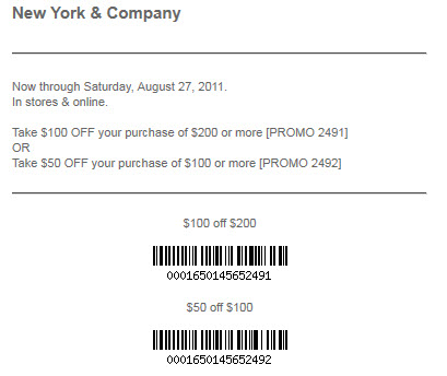 NYC coupon code $100 off