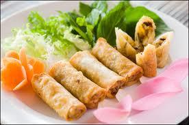 CHẢ GIÒ CHAY Vegetarian springrolls Roulean de printemps végétarien