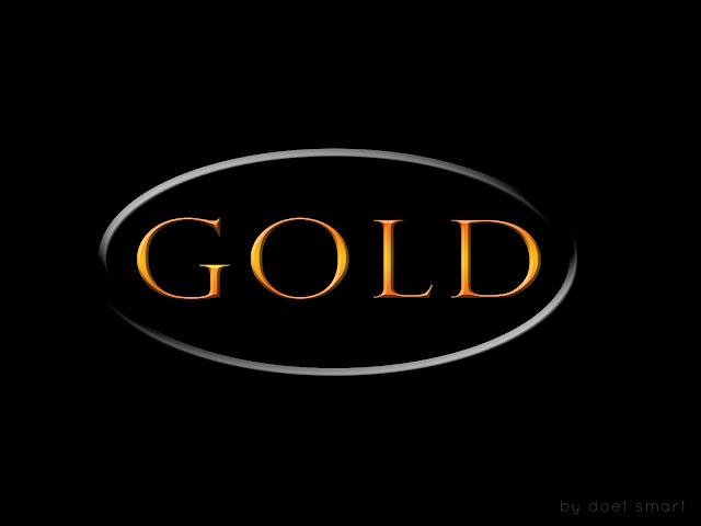 Cara Membuat Tulisan Gold atau Emas Dengan Photoshop