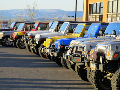 Jeep Row before the breakfast event