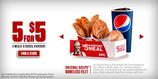 Kfc Meal Box News: KFC - 5 for $5 Promotion | Brand Eating