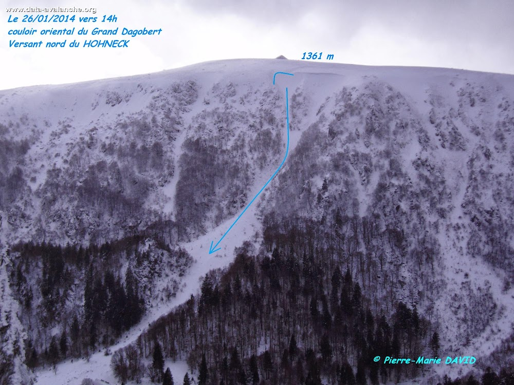 Avalanche Vosges, secteur Hohneck, Couloir du Grand Dagobert (branche orientale) - Stosswihr - Photo 1
