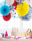 These paper party decorations are so inexpensive, you can make a big impression for next to nothing.
