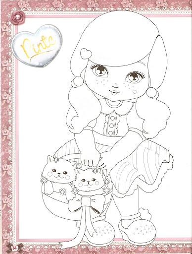Desenho Para Colorir filhotes da Jolie Tilibra para pintar e colorir
