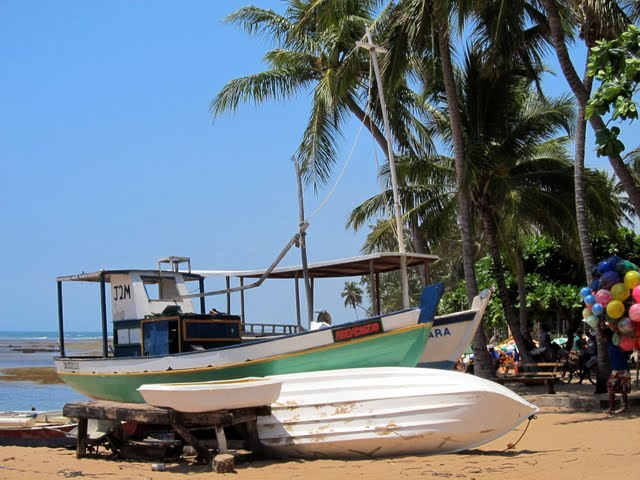 Boat in Praia do Forte in Bahia Brazil