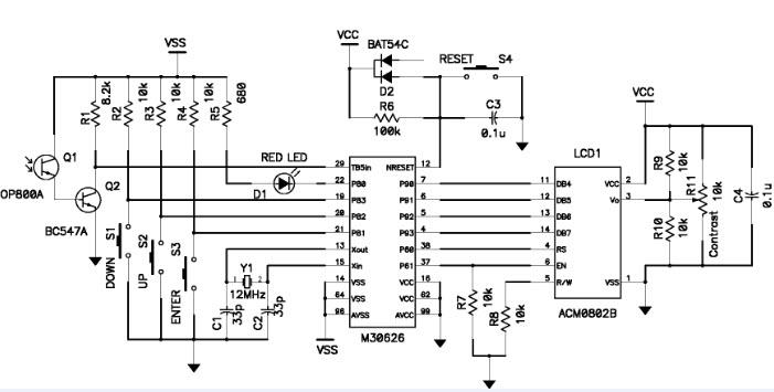 Remote Control Tester Schematic