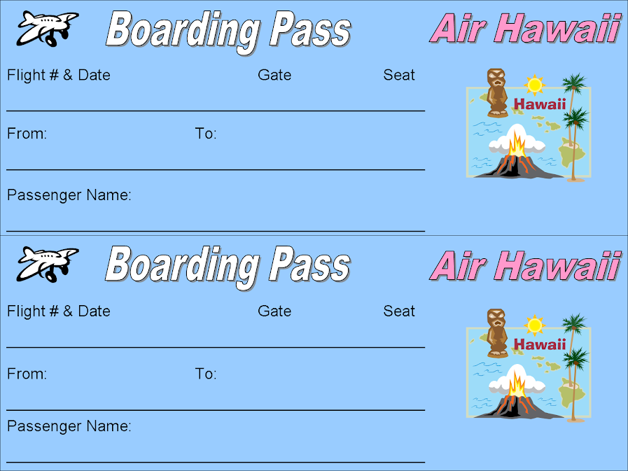 Free Printable Plane Ticket Boarding Passes